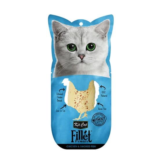 Fillet Fresh Frango e Peixe Fumado da Kit Cat