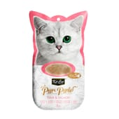 Snack Purr Puree Com Atum E Salmão 4 Unds da Kit Cat