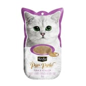 Snack Purr Puree Com Atum e Vieiras 4 Unds da Kit Cat