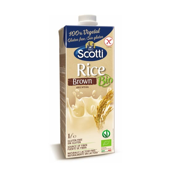 Bebida de Arroz Integral Sem Glúten Bio 1 L da Riso Scotti