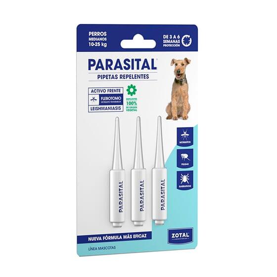 Parasital Pipetas Repelentes Cães Médios 3 Unds da Zotal