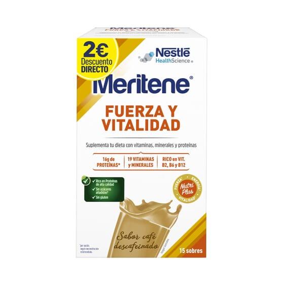 Meritene Fuerza Y Vitalidad Café Descafeinado Promoción 15 Sobres de Meritene