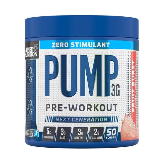 Pump 3G Zero Stimulant Pre-Workout 375g da Applied Nutrition