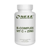 B-Complex Vitamin C + Zinc 60 Caps da Self Omninutrition