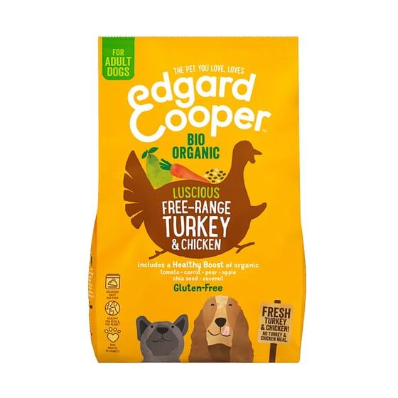 Ração Cão Peru e Frango do Curral Bio 7 Kg da Edgard Cooper