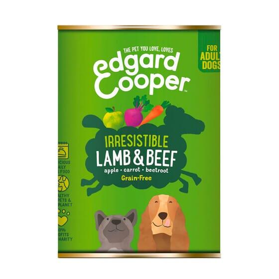 Comida Húmida Cão Borrego e Vaca 400g da Edgard Cooper