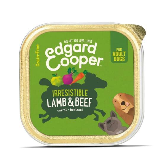 Comida Húmida Cão Borrego e Vaca 150g da Edgard Cooper