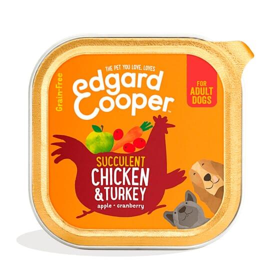 Comida Húmida Cão Frango e Peru 150g da Edgard Cooper