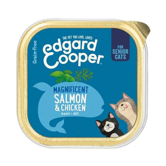 Comida Húmida Gato Frango e Salmão 85g da Edgard Cooper