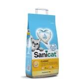 Classic Unscented Areia Absorvente para Gatos 10 L da Sanicat