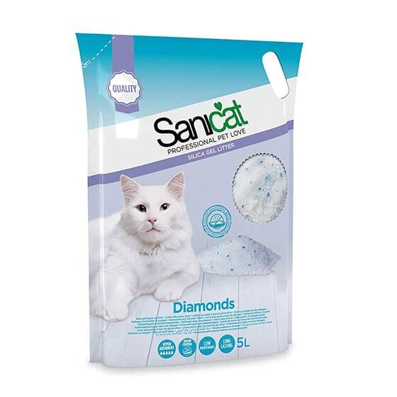 Diamonds Areia de Silica Para Gato 5 L da Sanicat