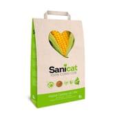 100% Areia de Gato de Milho 6 L da Sanicat