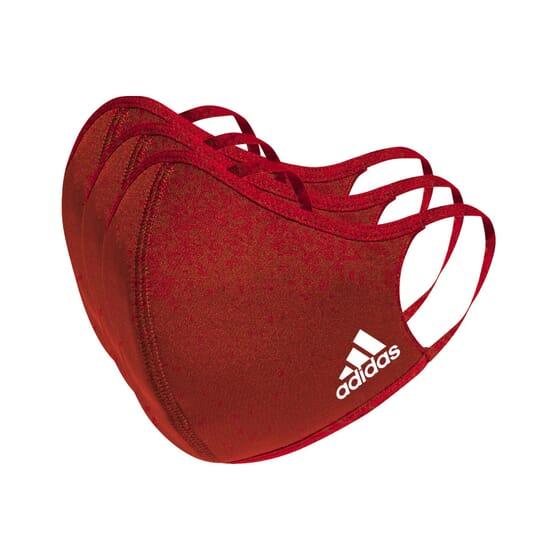 Máscara Adidas Vermelha Tamanho S 3 Unds da Adidas Sport