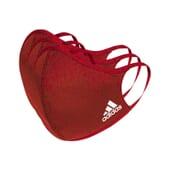 Máscara Adidas Vermelha Tamanho M/L 3 Unds da Adidas Sport