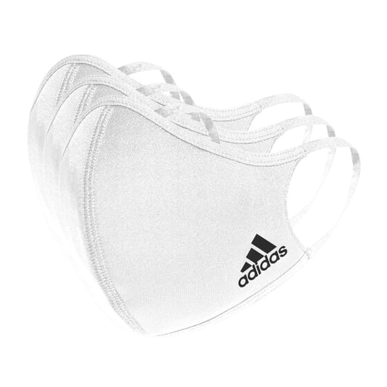 Máscara Adidas Branca Tamanho M/L 3 Unds da Adidas Sport