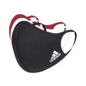 Máscara Adidas Preto/Vermelho/Branco tamanho S 3 Unds da Adidas Sport