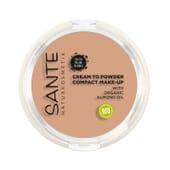 Maquillaje Compacto Polvo Crema 02 Warm Meadow Bio 9g de Sante