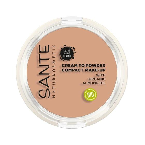 Maquilhagem Compacta Pó Creme 02 Warm Meadow Bio 9g da Sante