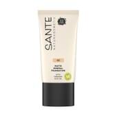 Maquillaje Fluido Mineral Mate 03 Neutral Beige Bio 30 ml de Sante