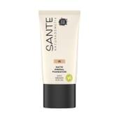 Maquillaje Fluido Mineral Mate 05 Warm Honey Bio 30 ml de Sante