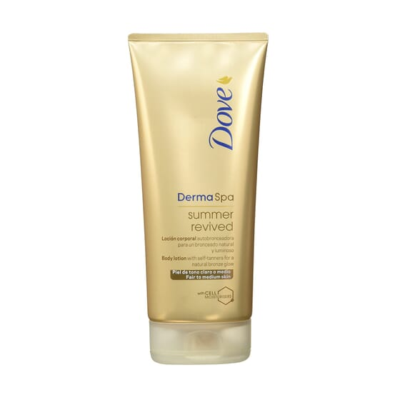 Dermaspa Summer Revived Tom Claro Médio 200 ml da Dove