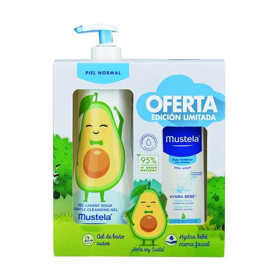Gel De Banho Suave + Hydra Bebé Creme Facial  da Mustela