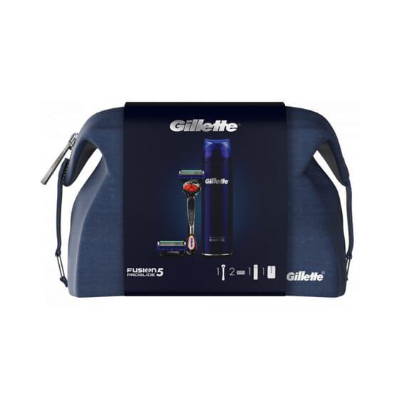 Fusion5 ProGlide Máquina + 2 Recargas + Gel de Barbear  da Gillette