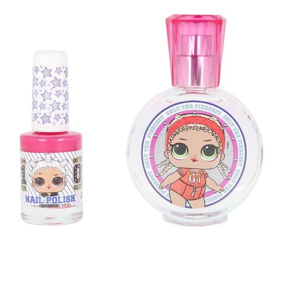 L.O.L. Surprise Perfume Lote EDT + Verniz + Porta-Chaves Pompom da Cartoon