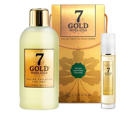 Seven Gold EDT Lote Lote EDT + EDT Reutilizável da Luxana