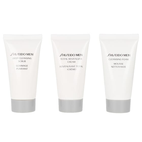 Men Total Age Desense Lote Creme Anti-idade + Espuma + Esfoliante da Shiseido