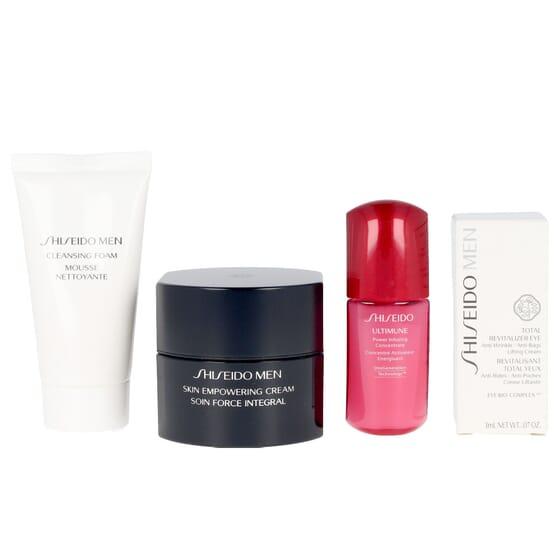Lote Men Skin Empowering Cream + Espuma Limpeza + Contorno Olhos + Sérum da Shiseido
