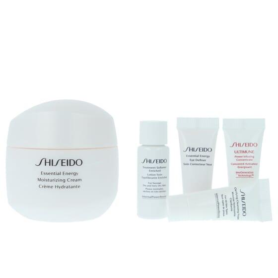 Lote Essential Energy Cream + Espuma De Limpeza + Sérum + Contorno De Olhos + Tónico da Shiseido