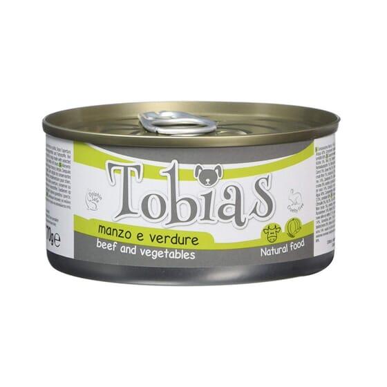 Comida Natural Vitela e Vegetais 170g da Tobias