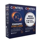 Control Finissimo Xtra Large Mega Ahorro 12 Uds 2 Uds de Control