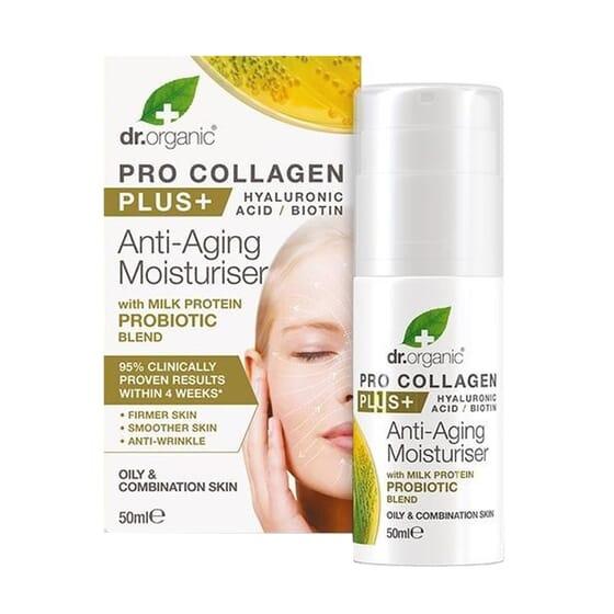 Creme Hidratante Anti-idade Pro Collagen Plus Probiótico 50 ml da Dr Organic