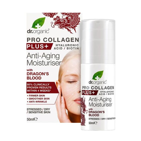 Creme Hidratante Anti-idade Pro Collagen Plus Sangue do Dragão 50 ml da Dr Organic