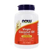 Aceite De Coco Virgen 1000 mg 120 Perlas de Now Foods