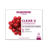 Clear U Cranberry 30 VCaps da Gold Nutrition