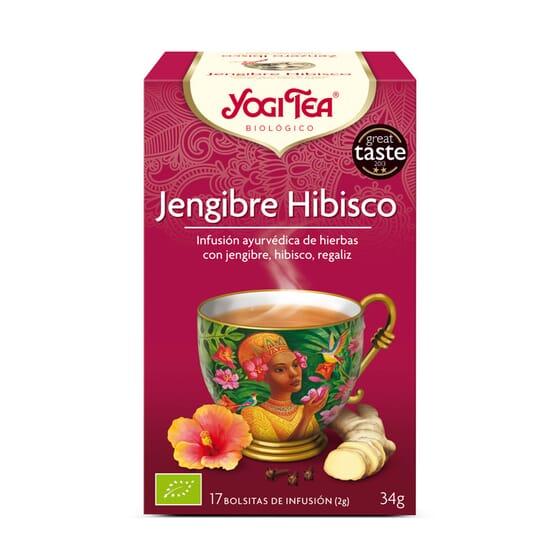 Jengibre Hibisco Bio 17 Infusiones da Yogi Tea