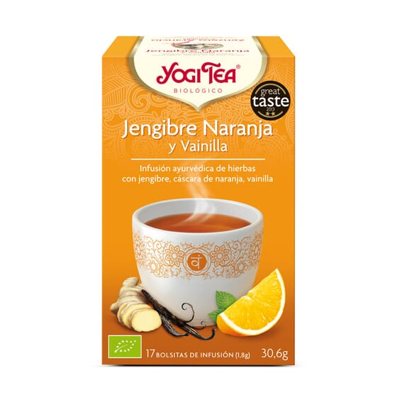 Jengibre Naranja Y Vainilla Bio 17 Infusiones da Yogi Tea
