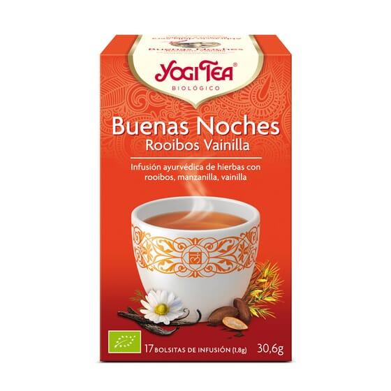 Buenas Noches Rooibos Baunilha Bio 17 Infusões da Yogi Tea