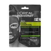 MEN EXPERT pure charcoal mascarilla tejido purificante de L'Oreal Paris