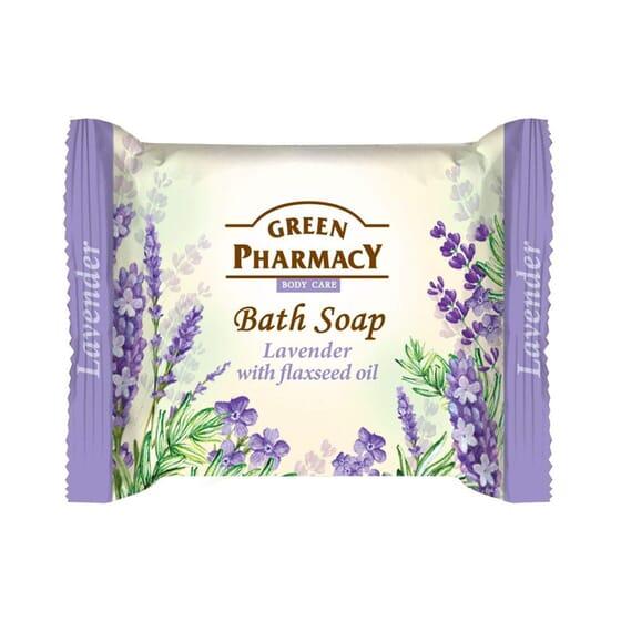 Jabón De Baño En Pastilla Lavanda Con Aceite De Linaza 100 ml de Green Pharmacy