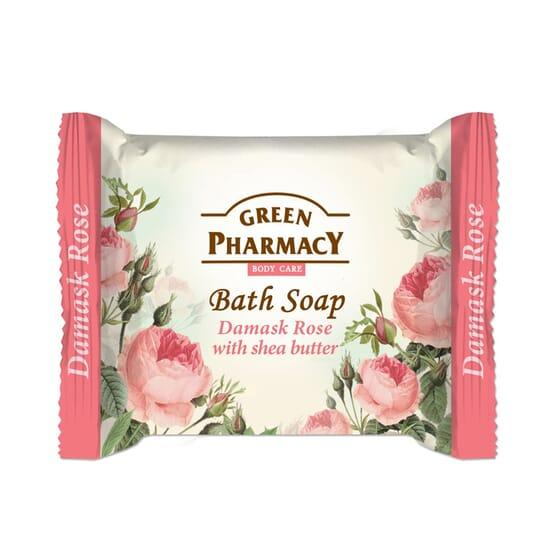 Jabón De Baño En Pastilla Rosa Damasco Con Manteca De Karité 100 ml de Green Pharmacy