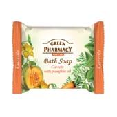 Jabón De Baño En Pastilla Zanahoria Con Aceite De Calabaza 100 ml de Green Pharmacy