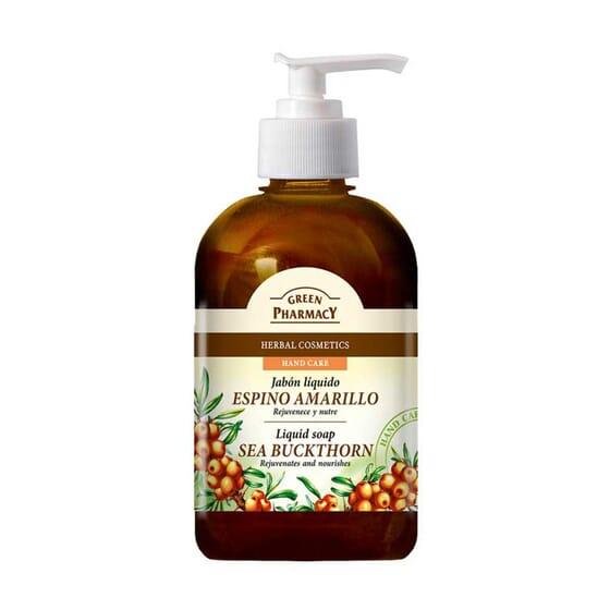 Jabón Líquido Espino Amarillo Rejuvenece Y Nutre 465 ml de Green Pharmacy