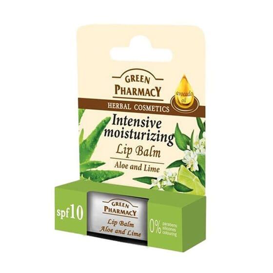 Bálsamo Labial Aloe Vera Y Lima Hidratante Intensivo de Green Pharmacy