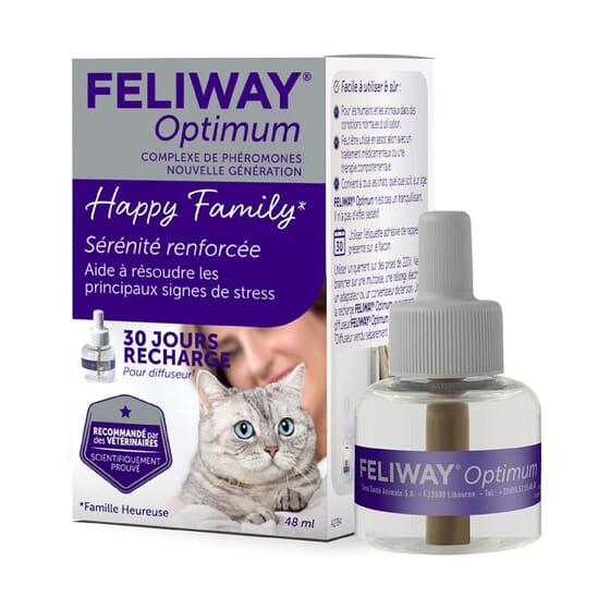 Feliway Optimum Antiestrés Recambio 48 ml de Ceva