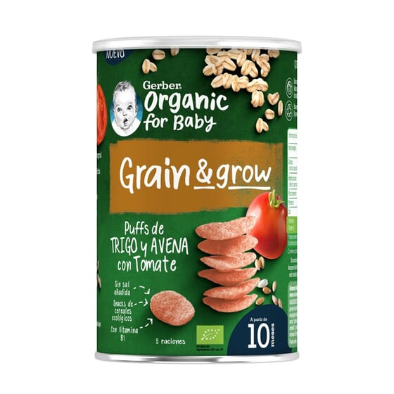 Grain Grow Snack Trigo De Avena Y Tomate Bio 35g de Gerber