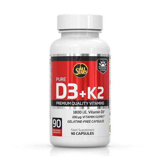 Pure Vitamin D3 + K2 90 Caps de All Stars